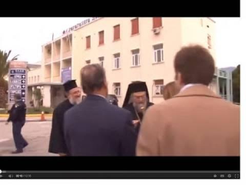 Βίντεο: Ο Μητροπολίτης Κορίνθου επισκέφθηκε το Νοσοκομείο της πόλης