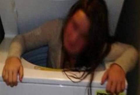 11χρονη σφήνωσε σε πλυντήριο ρούχων