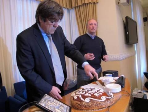 ΕΣΗΕΜ-Θ: Εκοψαν την πρωτοχρονιάτικη πίτα