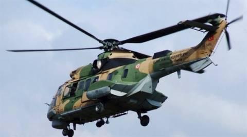 Τέσσερα λεπτά πάνω από τη Σάμο παρέμεινε τουρκικό ελικόπτερο