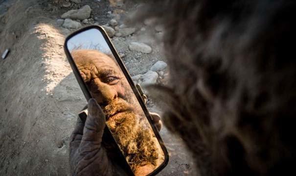 Ο άνθρωπος που δεν έχει πλυθεί εδώ και 60 χρόνια (pics)