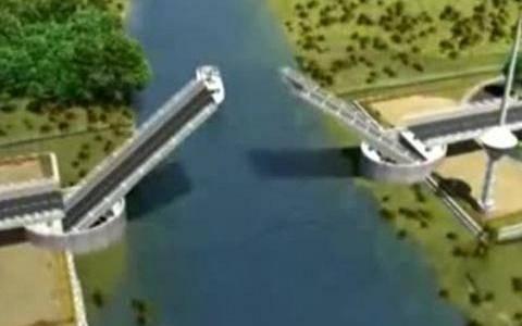 Απίστευτη γκάφα: Κατασκεύασαν γέφυρα με το οδόστρωμα... ανάποδα!