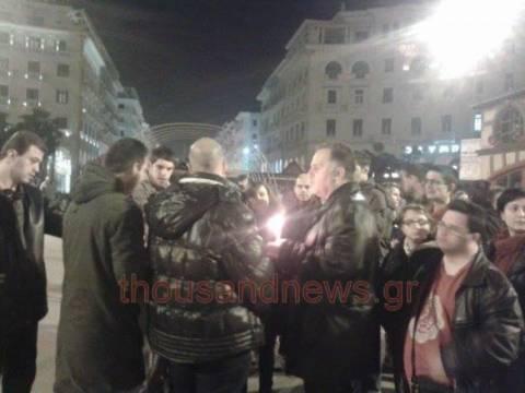 Θεσσαλονίκη: Άναψαν κεριά διαμαρτυρίας κατά της αιθαλομίχλης (vid)