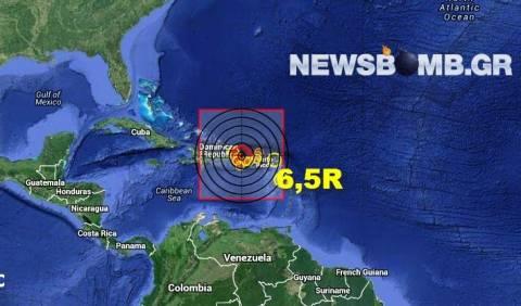 Σεισμός 6,5 Ρίχτερ βόρεια του Πουέρτο Ρίκο