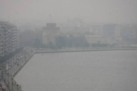 Έπνιξε την δυτική Θεσσαλονίκη η αιθαλομίχλη