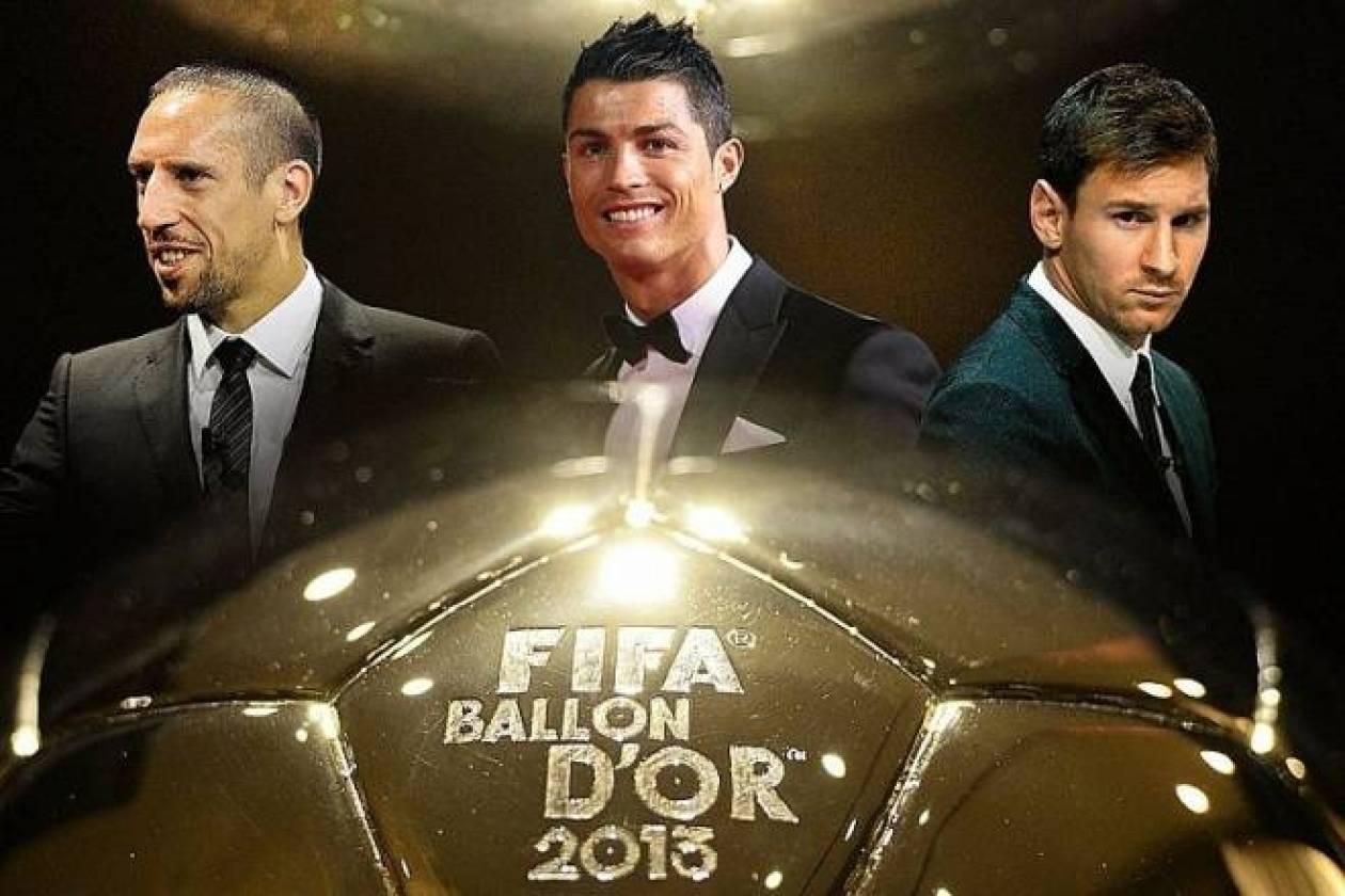 Χρυσή Μπάλα 2013: 35 ψήφοι η διαφορά Ρονάλντο-Μέσι, τρίτος ο Ριμπέρι