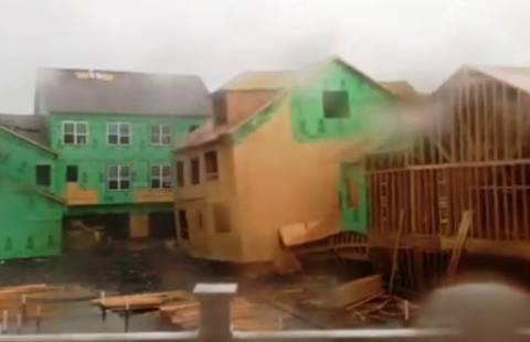 Ένα σπίτι... «όσα παίρνει ο άνεμος» (βίντεο)