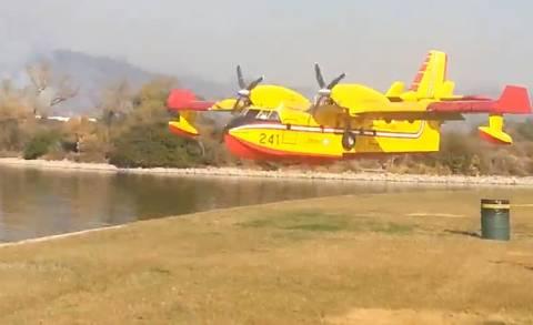 Έτσι παίρνει ένα πυροσβεστικό αεροσκάφος νερό (βίντεο)