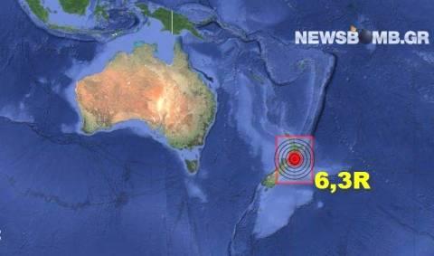Σεισμός 6,3 Ρίχτερ στη Νέα Ζηλανδία