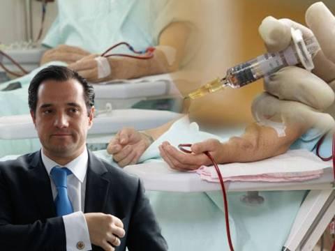 Ο Άδωνις «παίζει» με αιμοκαθάρσεις, εμβόλια και προϊόντα αίματος