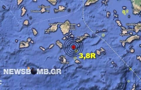 Σεισμός 3,8 Ρίχτερ στις Κυκλάδες