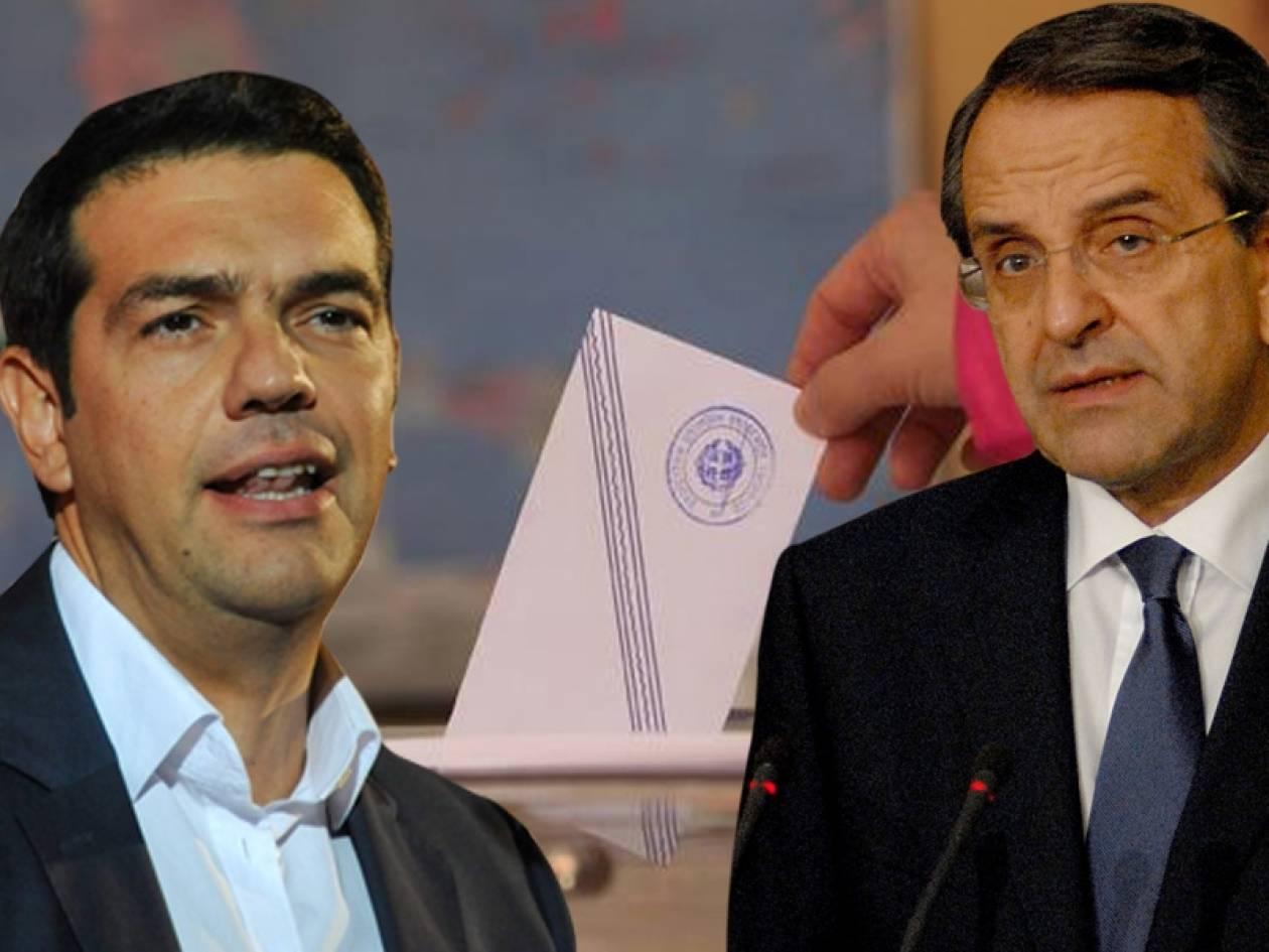 Οριακή πρωτιά του ΣΥΡΙΖΑ σε δύο δημοσκοπήσεις