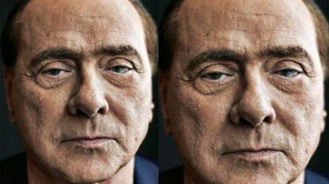 Ο Μπερλουσκόνι χωρίς ίχνος... μακιγιάζ και photoshop! (φωτο)