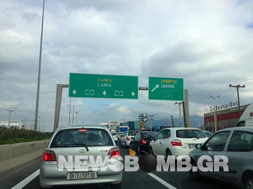 Σοβαρό τροχαίο: Τούμπαρε αυτοκίνητο στην Ε.Ο. Αθηνών-Λαμίας (pics)