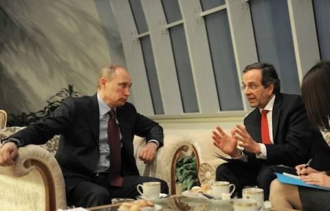 Σε εξέλιξη η συνάντηση Σαμαρά-Πούτιν
