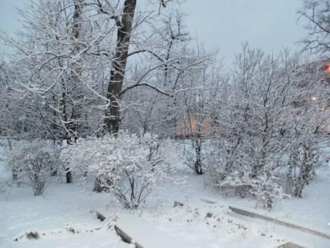 Πυκνή χιονοπτώση στο νομό Τρικάλων