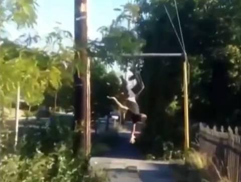 Μονόζυγο και skateboard δεν πάνε μαζί... (βίντεο)