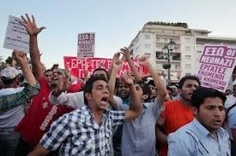 Αντιρατσιστικό συλλαλητήριο στα Προπύλαια