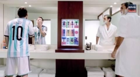 Μέσι και Φέντερερ ξυρίζονται παρέα! (video)