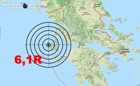 Ισχυρός σεισμός 6,1 Ρίχτερ στην Κεφαλονιά