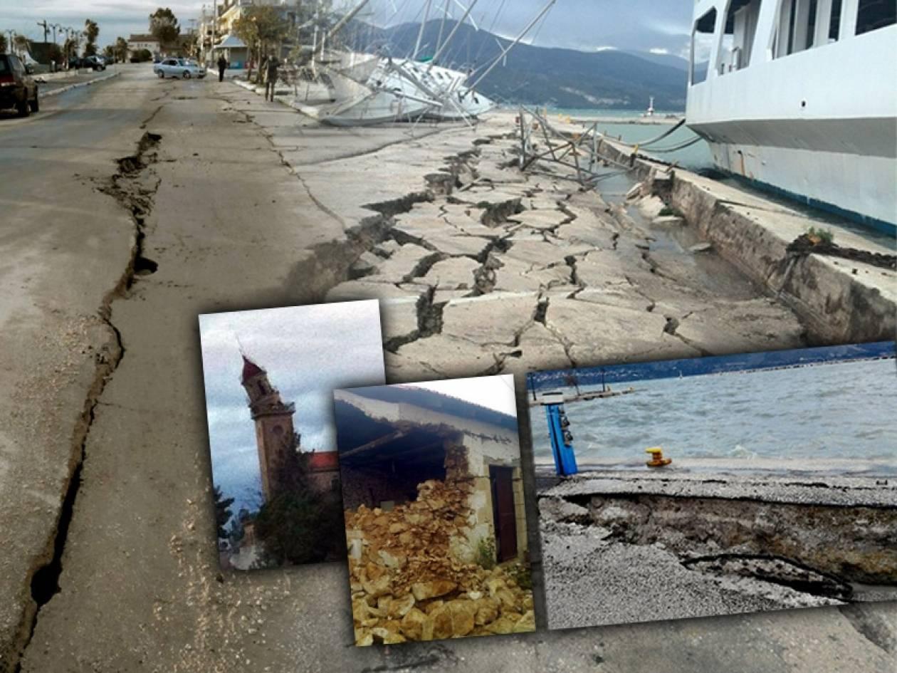 Σε αντίσκηνα και λεωφορεία οι σεισμόπληκτοι της Κεφαλονιάς