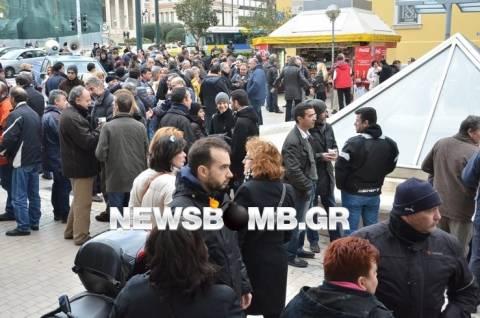Συλλαλητήριο ΔΕΗ: Κλειστό το ένα ρεύμα της Σταδίου