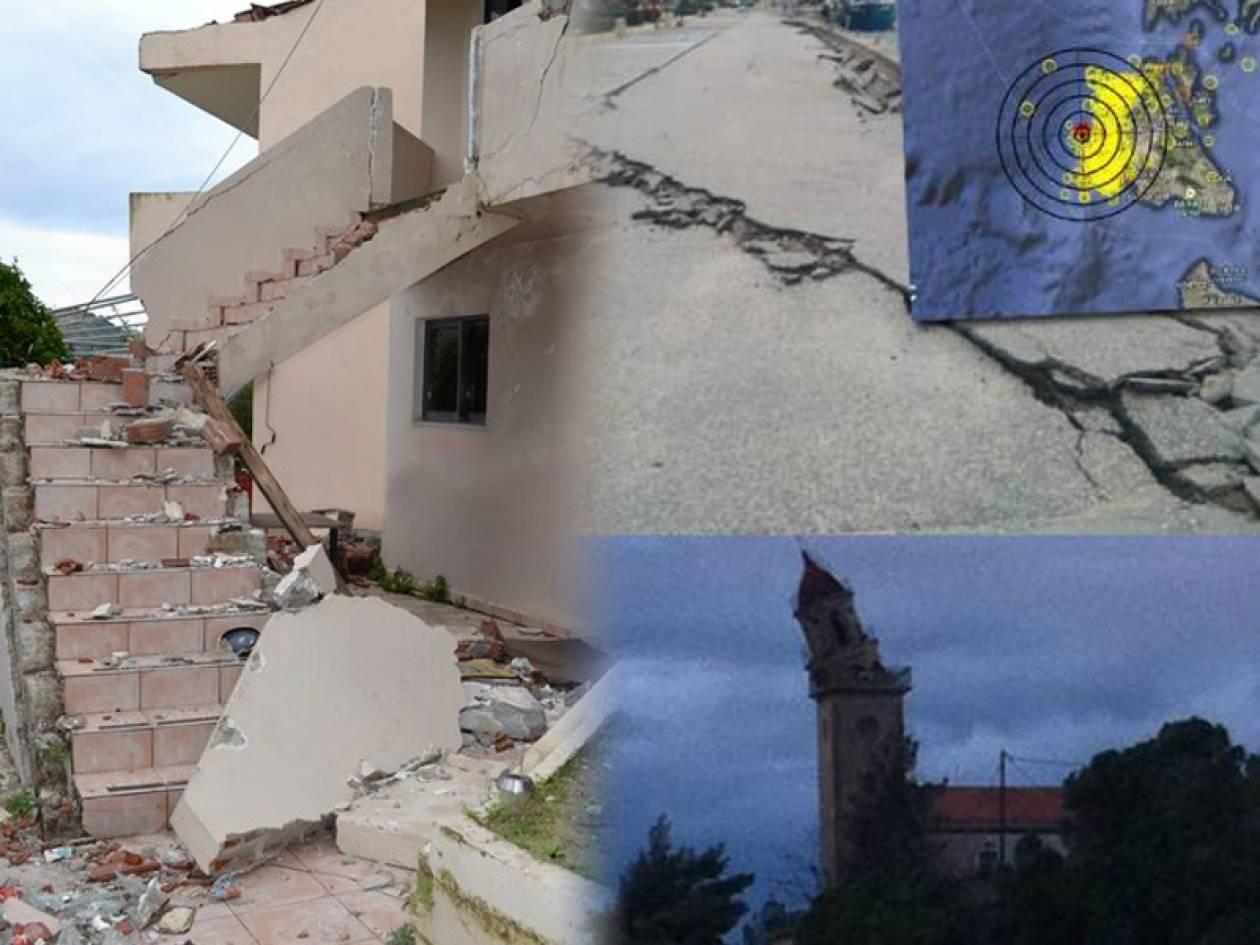 Ακόμη μια νύχτα αγωνίας για τους κατοίκους της Κεφαλονιάς