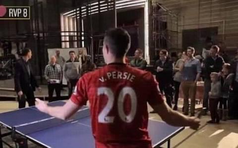 Ο Βαν Πέρσι το… έχει και στο ping pong! (video)