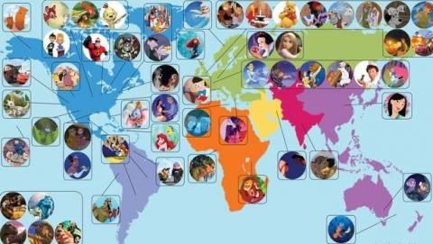 Δείτε από πού κατάγονται οι ήρωες της Disney - Από την Ελλάδα είναι ο…