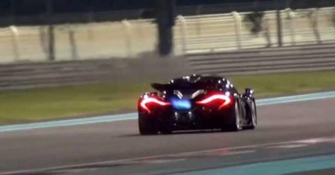 Η McLaren P1 καυτή @ Yas Marina