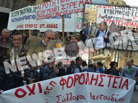 Σε εξέλιξη το Παναγροτικό συλλαλητήριο στην πλατεία Βάθη (φωτό&βίντεο)