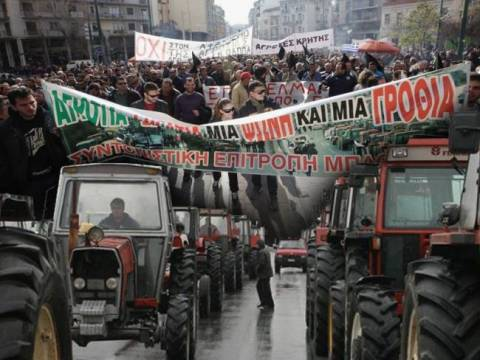 Farmers' large rally was held in Athens