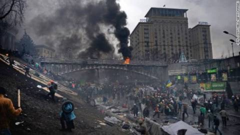 Before And After: Kiev's Independence Square