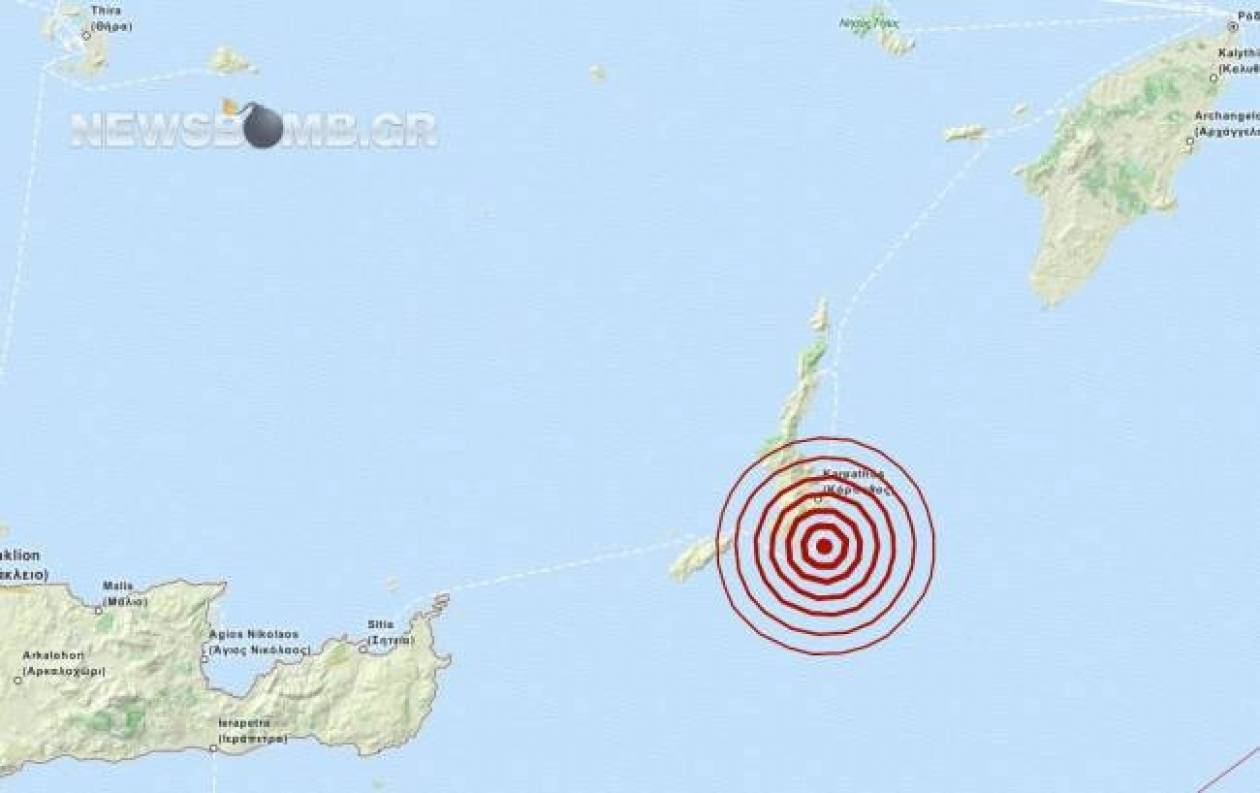 Earthquake in Karpathos