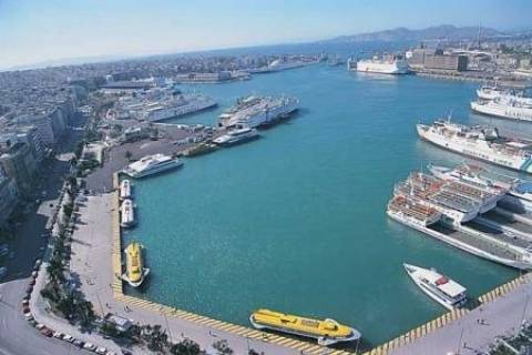 Ferry services are disrupted due to port worker's strike