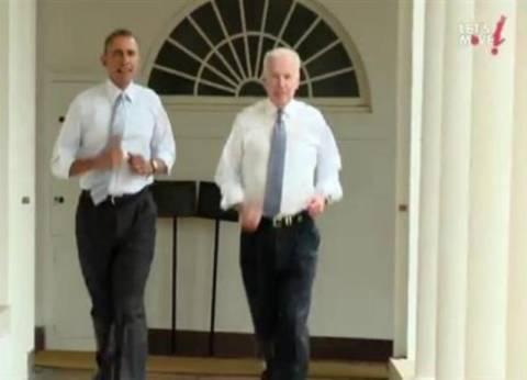 Ο Ομπάμα τρέχει μέσα στο Λευκό Οίκο