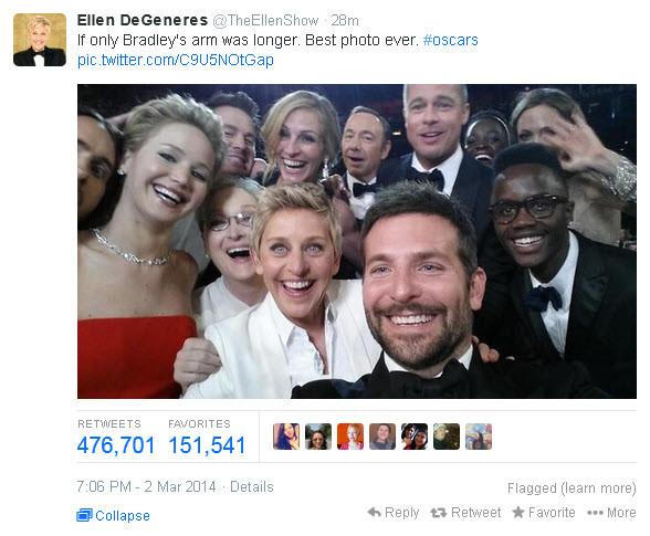 Όσκαρ 2014: Η φωτογραφία που σπάει κάθε ρεκόρ!