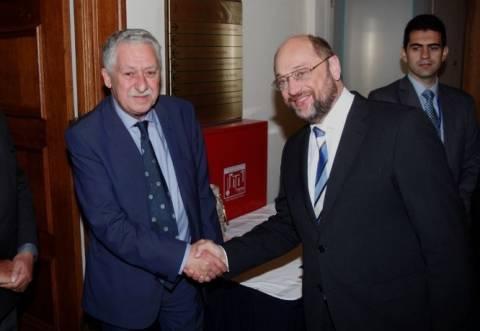 Βέλγιο: Συνάντηση Κουβέλη με Σούλτς και  Σβόμποντα