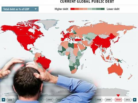 Πάνω από $100 τρισ. το παγκόσμιο χρέος!