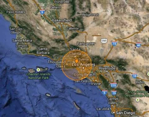 Earthquake 4.7 Richter strikes Los Angeles