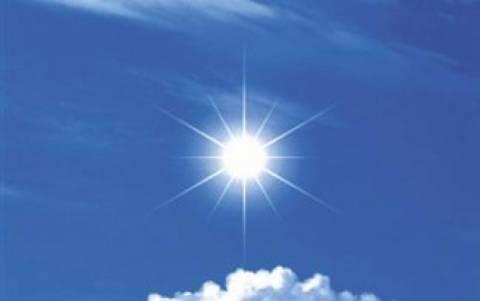 Sunny weather on Wednesday
