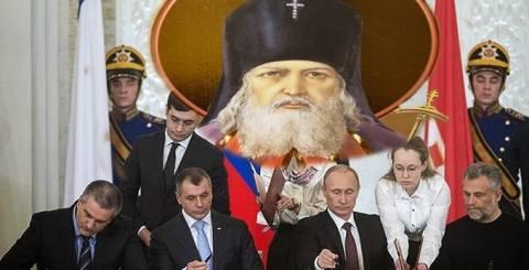 «Θέλημα» του Αγ. Λουκά του Ιατρού η ένωση της Κριμαίας με τη Ρωσία