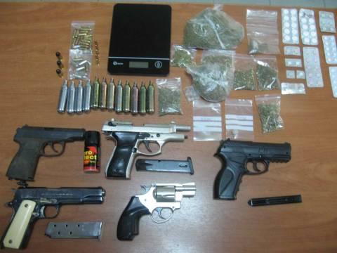 Δυο συλλήψεις στην Έδεσσα για οπλοκατοχή και χασίς