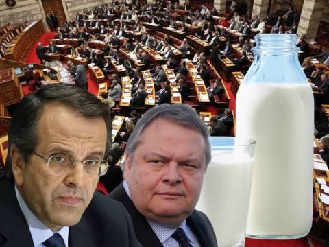 Σαμαράς και Βενιζέλος σε αναζήτηση εξόδου από το αδιέξοδο του γάλακτος