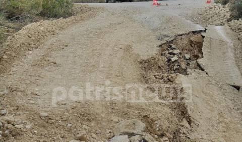 Ηλεία: Κλειστός ο δρόμος Πύργου-Οινόης μέχρι τη Μεγάλη Δευτέρα