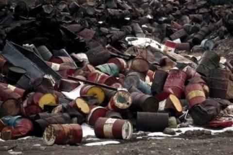 Βιομηχανικά απόβλητα στα Διαβατά Θεσσαλονίκης