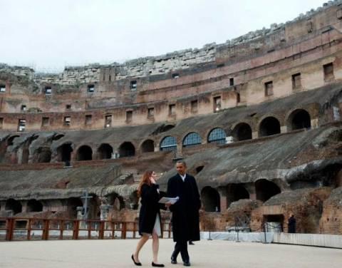 Τι ατάκα πέταξε ο Ομπάμα μόλις είδε το Κολοσσαίο;