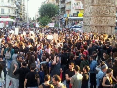 Θεσσαλονίκη: Πορεία αλληλεγγύης για πολιτικούς πρόσφυγες από Τουρκία