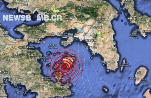 Σεισμός 3,6 Ρίχτερ στην Αίγινα