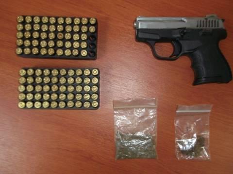 Συνελήφθη 33χρονος με όπλο και ναρκωτικά